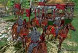 English Cavalry in a lush forest