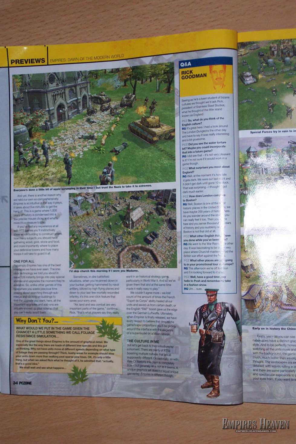 Empires Preview in the UK mag, PCZone (Page 3)