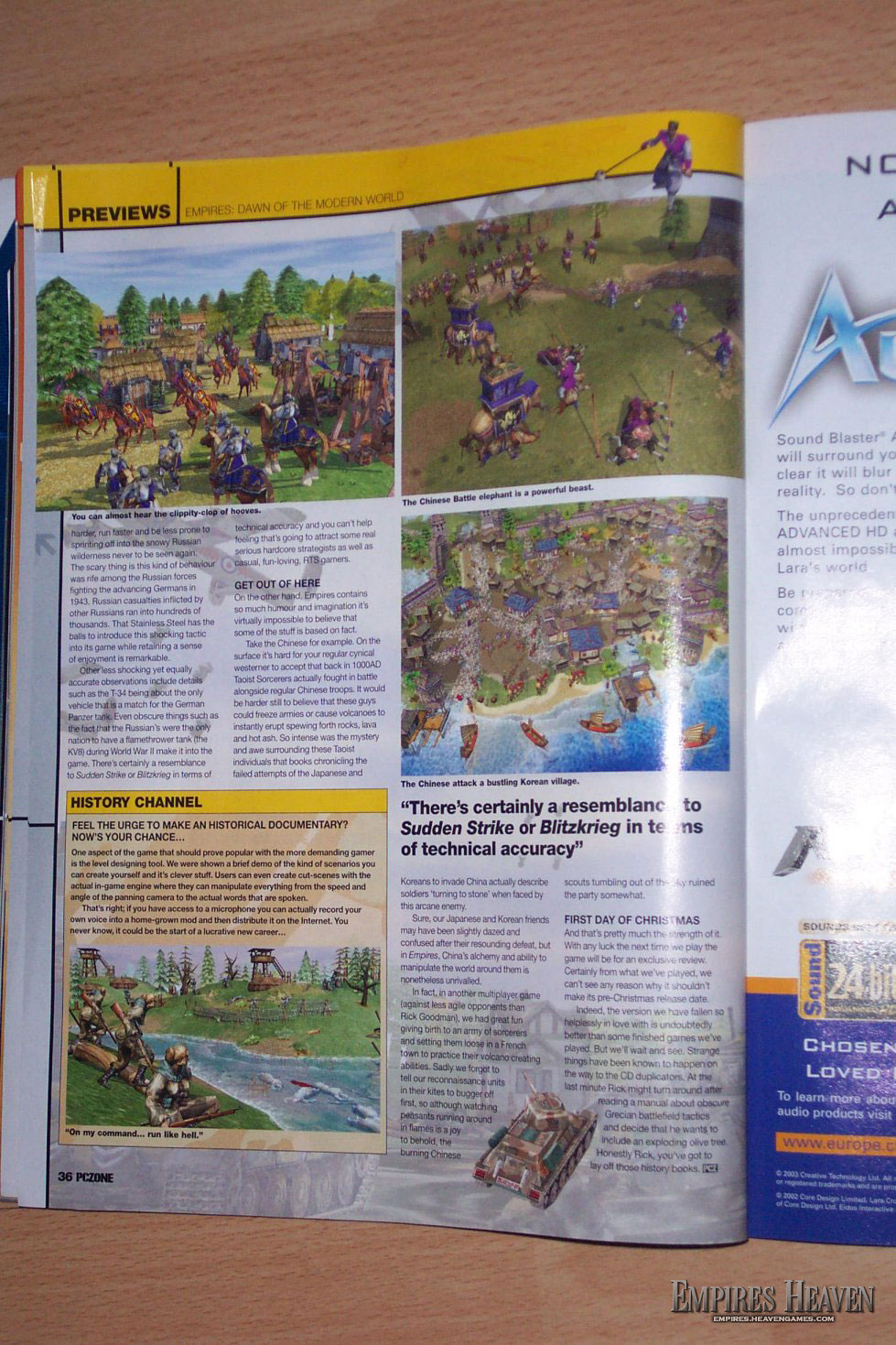 Empires Preview in the UK mag, PCZone (Page 5)