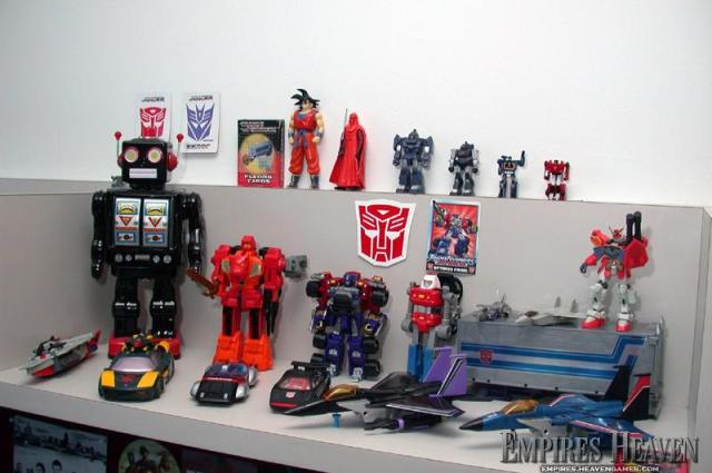 One of the many Transformer displays in the office