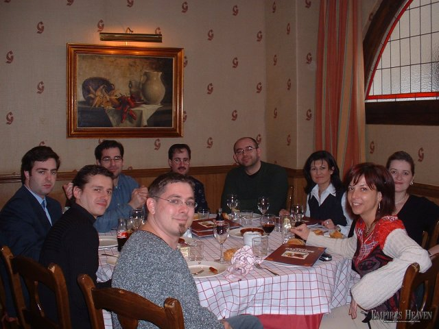 Madrid - Dinner in Madrid with the President of Pyro Studios - Ignacious - to my right