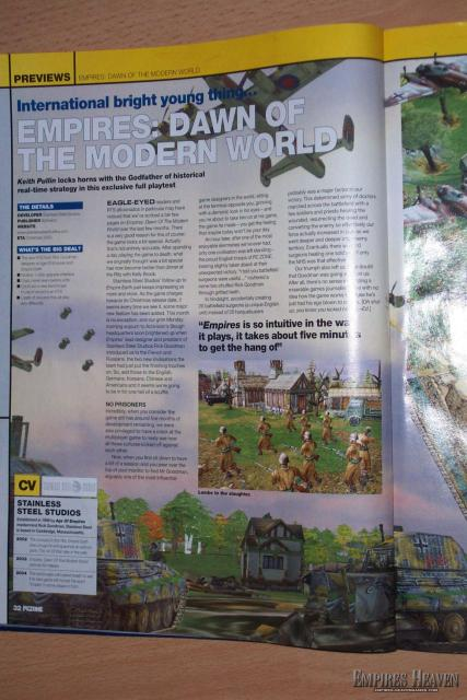 Empires Preview in the UK mag, PCZone (Page 1)
