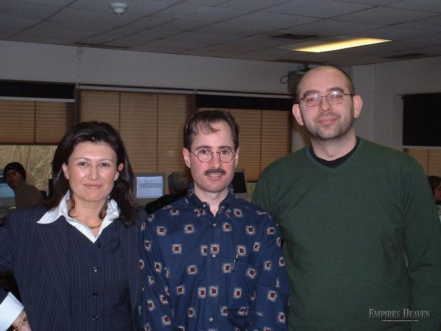 Madrid - Rick at Pyro Studios in Madrid. - To his left is the Project Manager of Praetorians which shipped 2 weeks prior