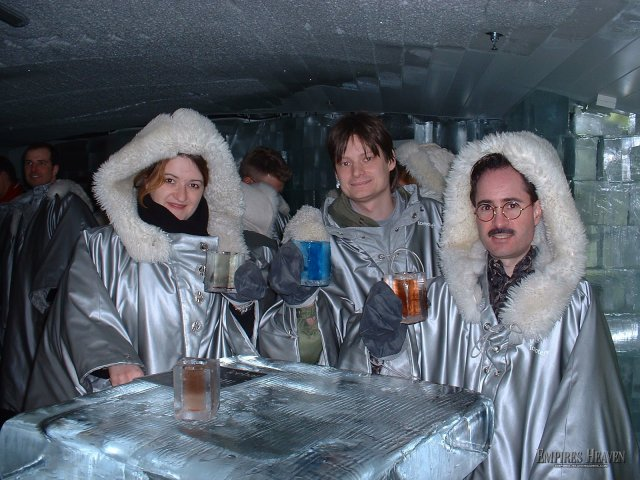Stockholm - Cheers from the Ice Bar in Stockholm where its always a cozy 20 degrees inside